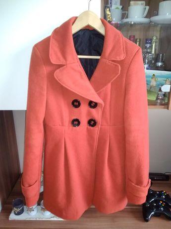 Płaszcz #kolor rudy