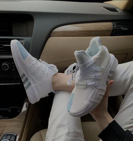 Женские кроссовки Adidas EQT Bask ADV White Blue