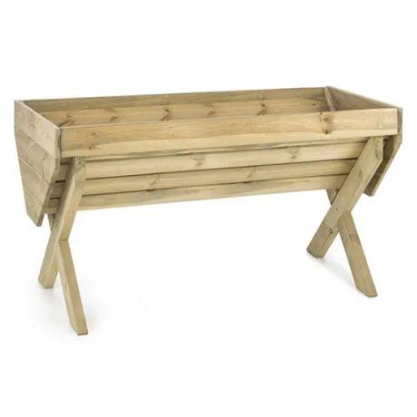 Donica podwyższona drewniana ogrodowa 150x76cm WYPRZEDAŻ 270806