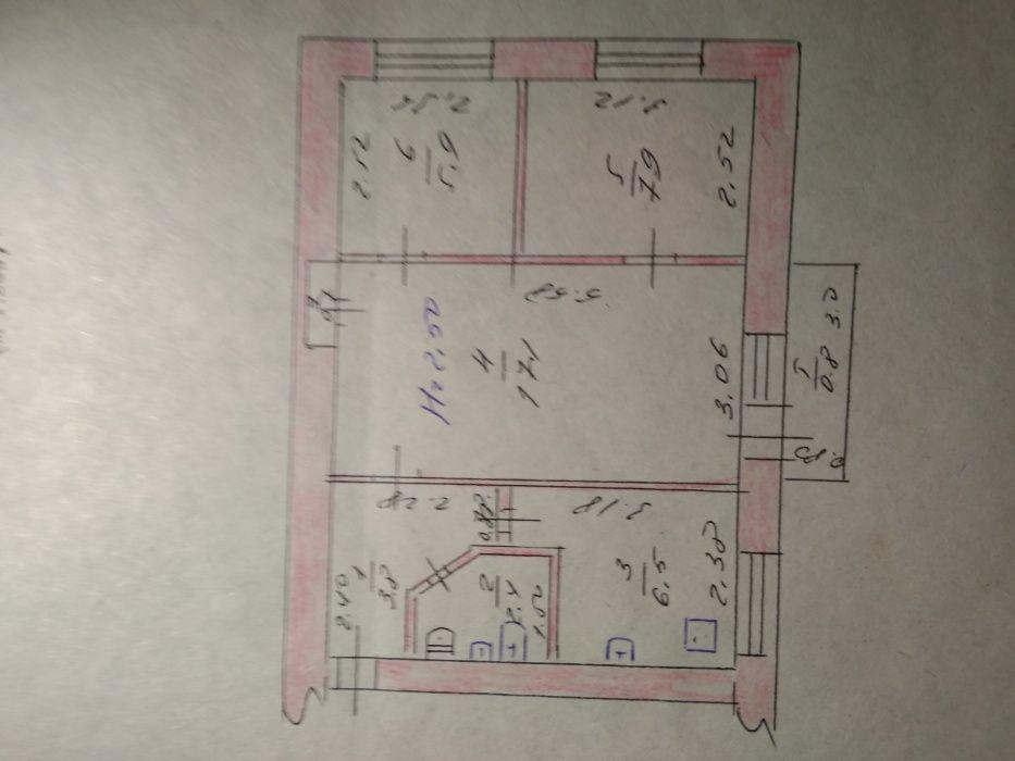 Продается 3-х комн. квартира в г.Берислав