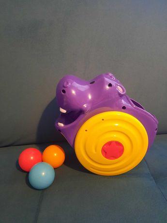 Playskool hipopotam interaktywny zjadający piłeczki, jak nowy, baterie
