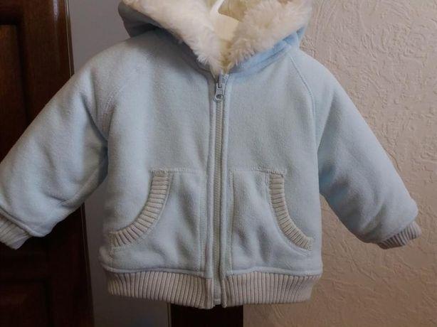 Очень теплая зимняя шуба-куртка 70-74р.