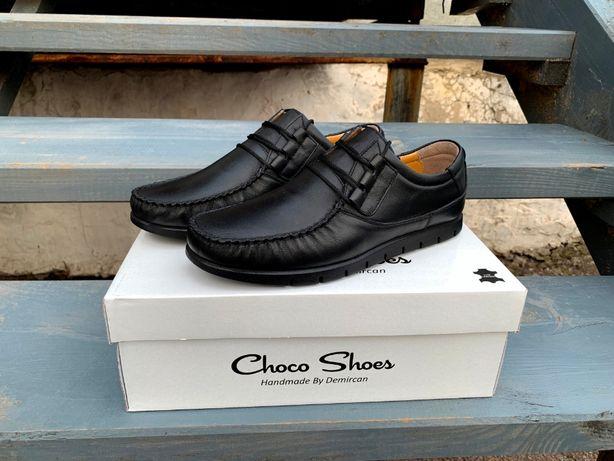 Мужские кожаные турецкие мокасины Choko Shoes. Натуральная кожа! ТОП!
