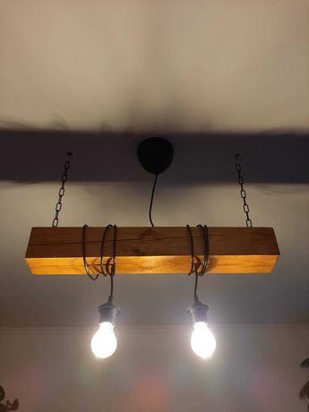 Lampa z belki loft/industrial + stół