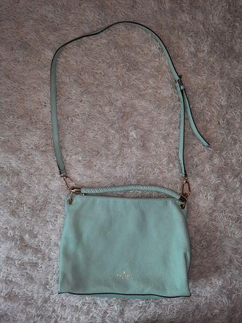 Kate Spade oryginalna skórzana torebka niebieska crossbody