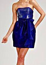 Эффектное американское вечернее синее короткое платье ,выпускное
