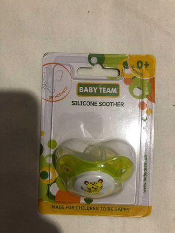 Новая соска пустышка силиконовая классическа, Baby Team