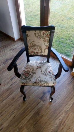 Krzesło tronowe styl Ludwik zdobione NOWE