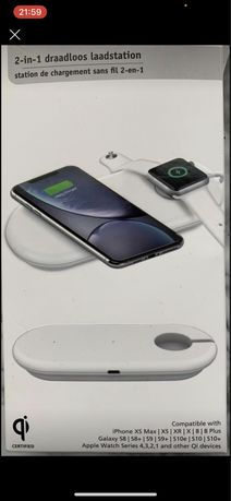 Зарядна сианція для iphone та apple watch