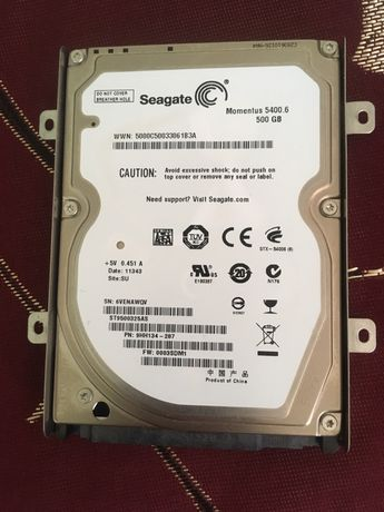 Жёсткий диск  для ноутбука Seagate 500 гб hdd