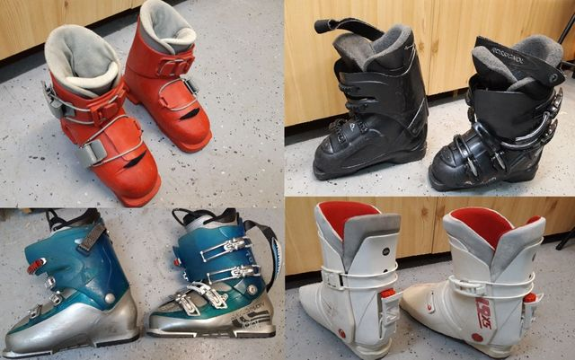 Buty narciarskie Rossignol Nordica Salomon Stefan (dziecięce), narty