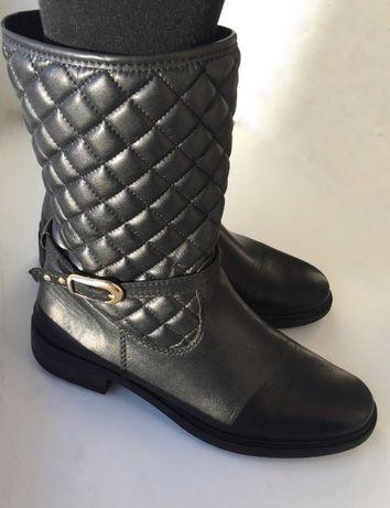 Кожаные сапоги, ботинки, 38 розмір, чоботи s.Oliver утепленные