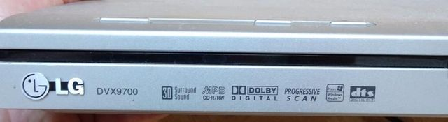 Dvd cd player LG DVX9700