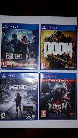 Игры для PS4 (ResidentEvil,Doom,Metro)