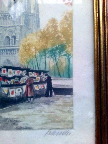 Pequenos quadros-moldura Leandu + Thomas Gainsborough