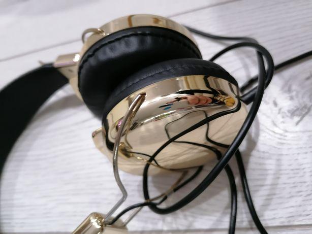 Słuchawki nauszne cvw, zlote