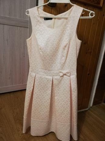 Sukienka wizytowa KOTON r. XS pudrowy róż karnawał chrzciny wesele