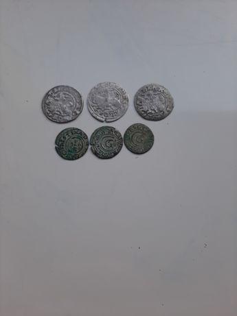 Zestaw srebrnych  półgroszy i szelągów