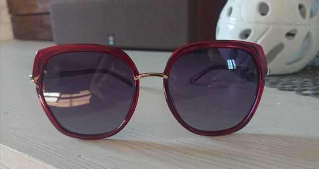 Bordowe czerwone okulary przeciwsłoneczne polaryzacyjne Polariss