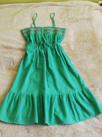 Reserved sukienka letnia zielona boho na ramiączkach rozm. 38