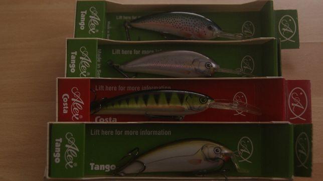 zestaw 4 nowych woblerów Alex Tango Serbia zamiana