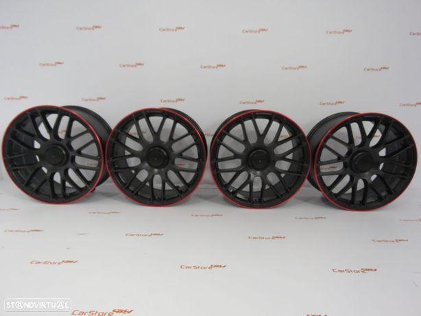 Jantes Look Mercedes C63 18 x 8 et44 5x112 Black + Red