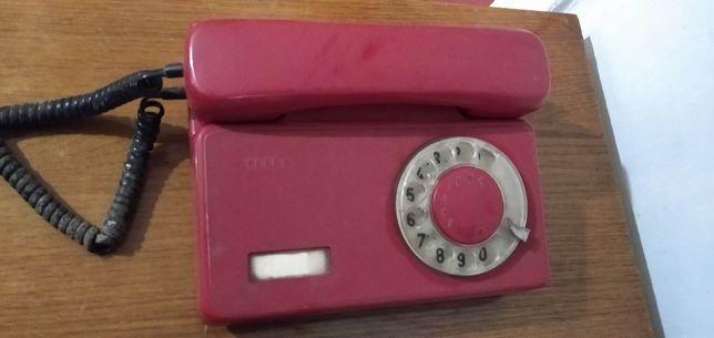 Телефонный апарат TESLA Тесла. Телефон дисковый. Стационарный