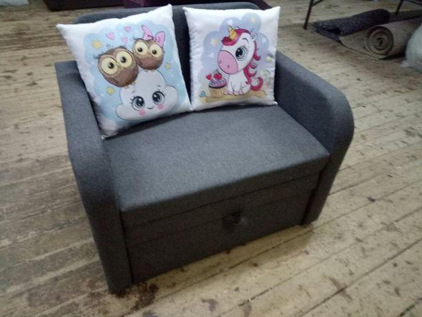 ЮниорАртGrey 80 детский раскладной диван