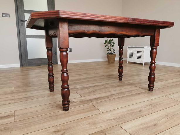Stół rozkładany mahoniowy rzeźbione nogi elegancki antyczny