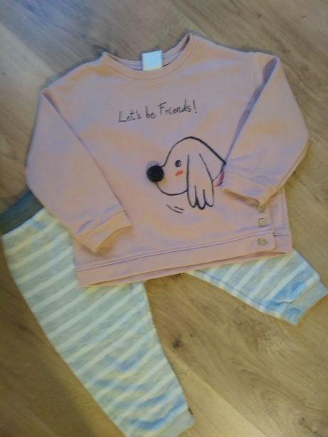 Komplet Bluza Spodnie Zara 86