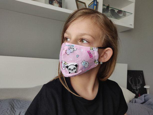 Maseczki ochronne dla dzieci z wkładką filtrującą, wysyłka z Polski