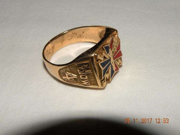 Sygnet Oficerski Złoty pr. 585