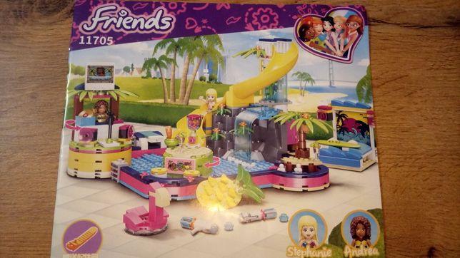 Klocki Impreza Andrei na Basenie z LEGO friends 11705 kompatybilne