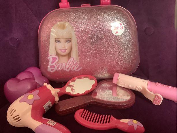 Walizka fryzjer kosmetyczka Barbie z suszarką, lusterkami, grzebieniem