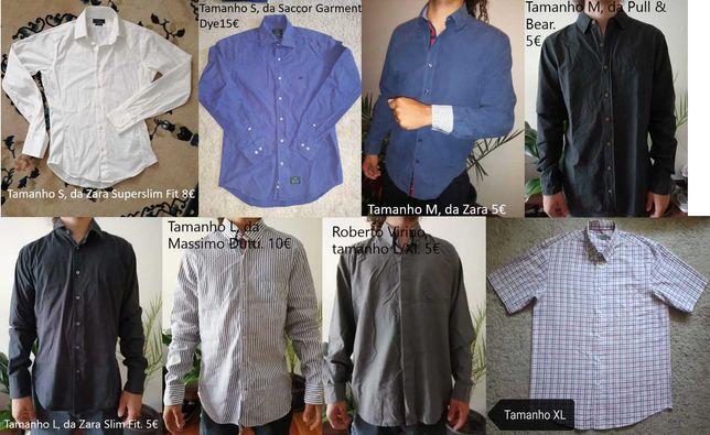 Camisa de homem vários tamanhos e marcas