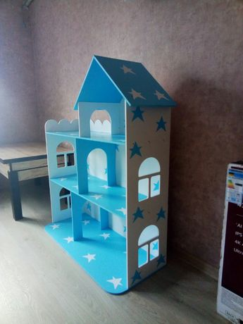 Кукольный домик деревянный ручной работы