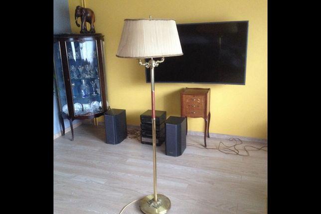 Lampa stojąca mosiądz
