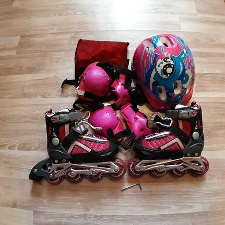 Ролики Explore amigo comfortflex с защитой в подарок