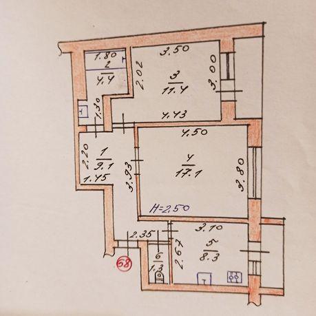 Продам 2-х комнатную квартиру, Красная гора