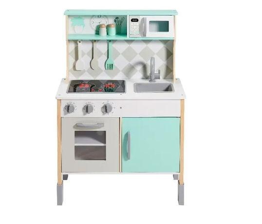 Kuchnia drewniana dla dzieci z dźwiękiem akcesoriami kuchenka biała !!