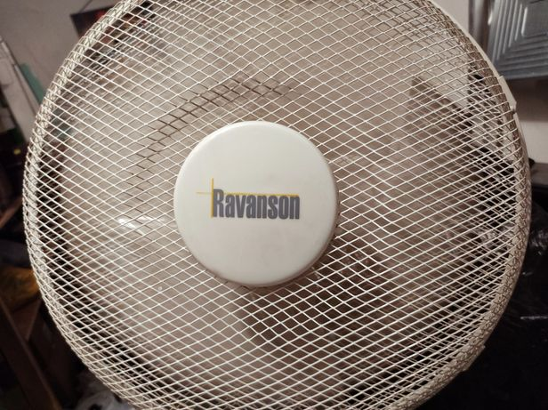 Wentylator stojący Ravanson, 50 W, reg. wysokości, ruch oscylacyjny.