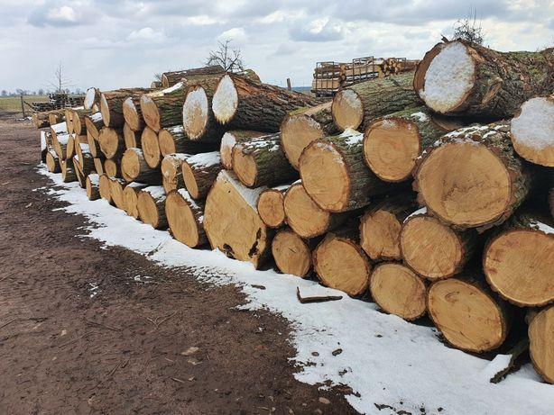 Drewno kominkowe opałowe dąb wałki