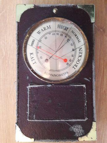 Stary zabytkowy termometr z wilgotnościomierzem