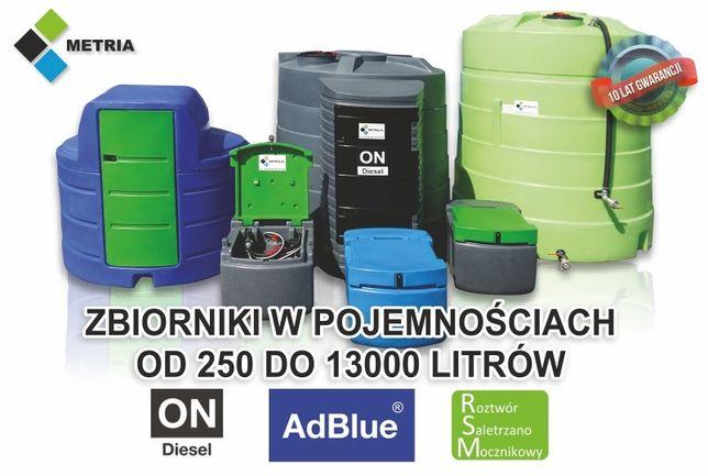 Zbiornik na paliwo 1500 OLEJ NAPĘDOWY 2500 paliwa 5000 dwupłszczowy