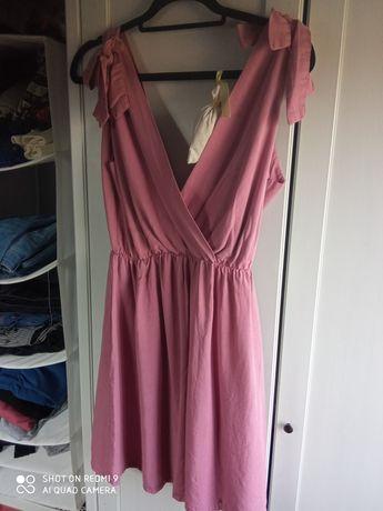 Sukienka letnia brudny róż 100% lyocell