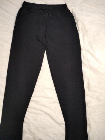 Zara knit XS-S джоггеры вязаные штаны синие.