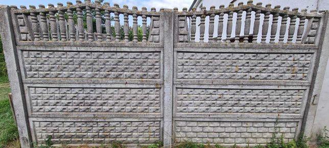 Płot betonowy, ogrodzenie betonowe (płyty)