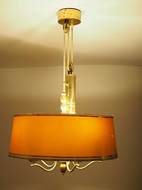 Lampa żyrandol z przeciwwagą obciążnik