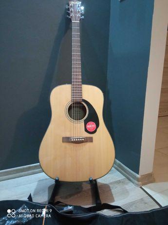 Nowa gitara akustyczna Fender CD-60 NAT plus zestaw FV