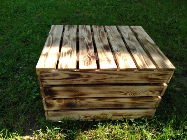Skrzynki drewniane, duże, nowe, na warzywa, owoce z przykryciem